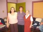 Myriam (the teacher) and Felisa, Orfilia (the happy graduands)