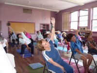 Highlight for Album: YOGA 2011-A partnership program between Club Casa and the Jewish Family Services.