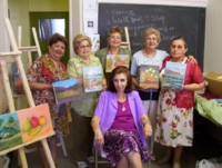 Highlight for Album: Brewing artists at CCA: Olga, Cecilia, Ana, Marilu, Julia & Irene (instructor)