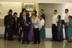 Franciso and Anita leading the rehearsal.